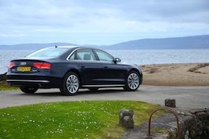 Audi A8 hybrid car