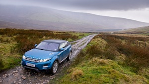 Range Rover Evoque 9-Gear Automatic put through it's off road paces climbing a mountain in Wales.