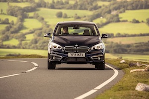 Front view of the BMW 2 Series Active Tourer