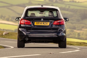 Rear view of the BMW 2 Series Active Tourer