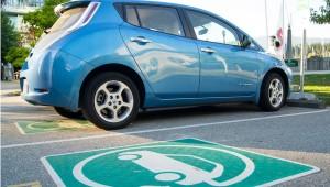 EV parking Nissan LEAF
