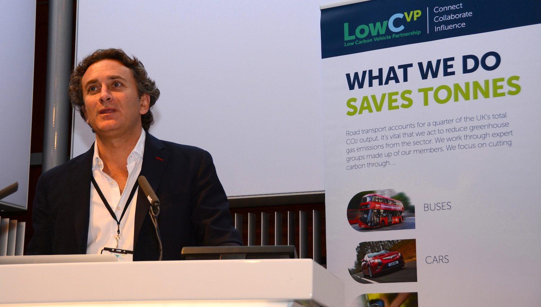 FIA Formula E's Chief Executive, Alejandro Agag at the LowCVP Conference 2015