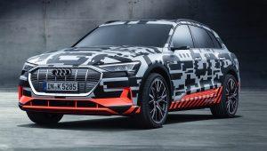 Audi e-tron prototype unveiled at Geneva
