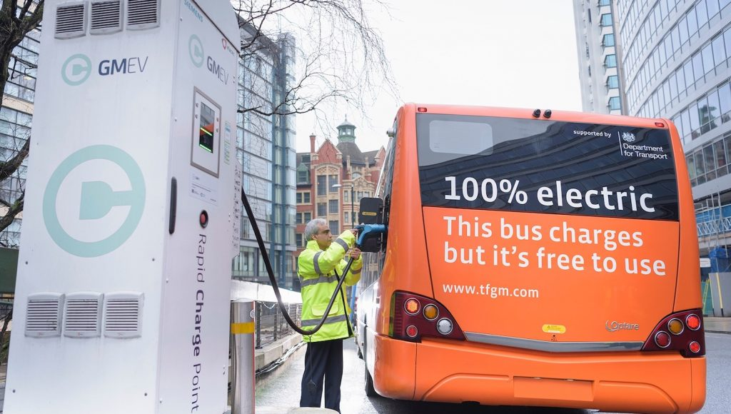 Manchester Electric Bus Charging - Clean Air Zone