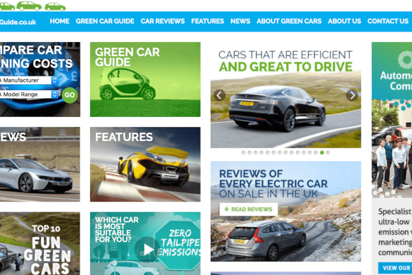 Green Car Guide website