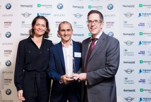 Fleet Hero - L-R Amanda Stretton, Norman Harding (London Borough of Hackney), Alex Grant (FleetWorld)