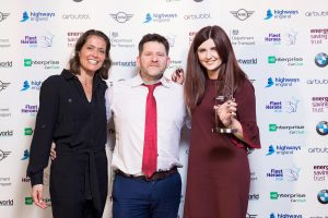 Ultra Low Emission Fleet Hero - L-R Amanda Stretton, Fraser Crichton (Dundee City Council), Lucy Ramstedt (BMW)