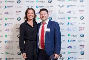 Ultra Low Emission Vehicle Infrastructure Hero - L-R Amanda Stretton, Fraser Crichton (Dundee City Council)