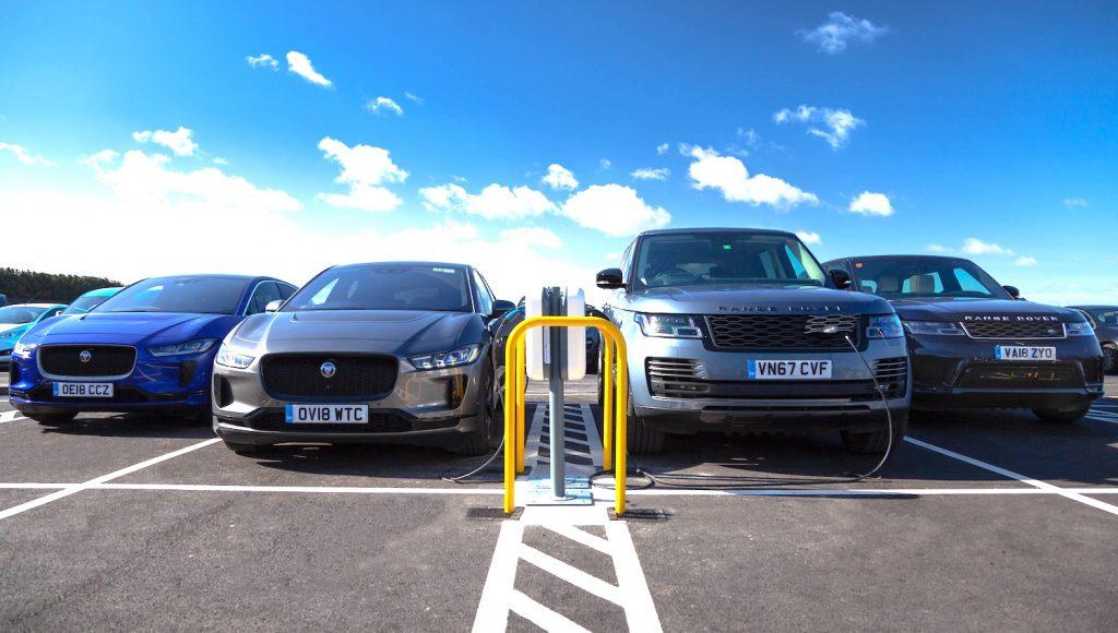 Jaguar Land Rover opens UK's largest EV Smart Charging site