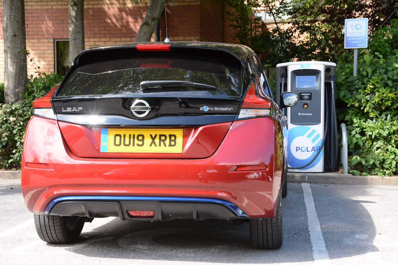 Nissan LEAF e+ charging