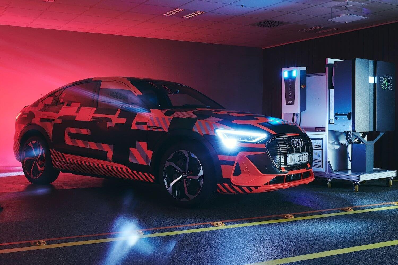 Audi e-tron V2G charging