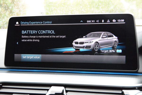 BMW 530e Hybrid controls 3