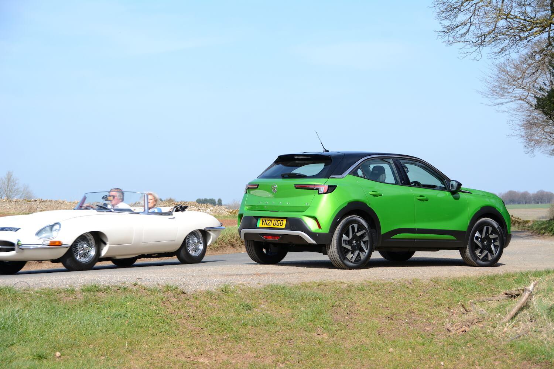 Vauxhall Mokka-e & Jaguar E-Type