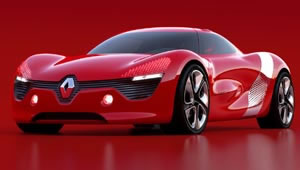 The great-looking Renault DeZir electric concept car