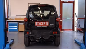 Rear view of the T25 city car