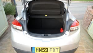 The boot space in the Megan Coupe