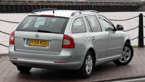 Rear view of the Octavia Greenline Estate by Skoda