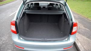 The cavernous boot of the Octavia Greenline Estate - plenty enough for a big family road trip.