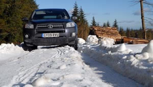 Toyota RAV4 XT-R 2.2 D4D road test in snow and icy conditions