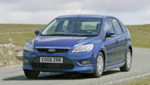 A Ford Focus ECOnetic doing the Smart Driving Challenge