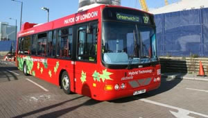The Wrightbus hybrid bus is powered by just a standard 2.4 litre diesel engine