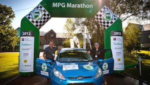 A Ford Fiesta ECOnetic 1.6 TDCi has won the 2012 ALD Automotive/Shell FuelSave MPG Marathon