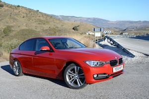 BMW 328i in red