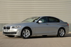 BMW 520d EfficientDynamics combined economy figure of 62.8 mpg