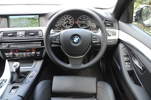 The BMW 520d dashboard