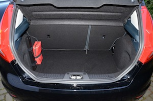 Ford Fiesta ECOnetic boot - luggage space