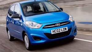 The new Hyundai i10 low emission Blue Drive car emits just 99 g/km CO2