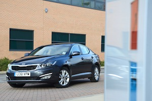 Kia Optima with the Kia's 'Intelligent Stop and Go' system (ISG)