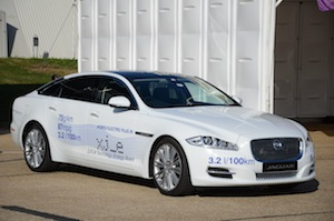 Jaguar XJ-e is a plug-in hybrid engineering research vehicle