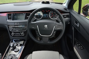 Peugeot 508 RXH diesel-hybrid luggage space dashboard