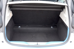 Renault ZOE luggage space