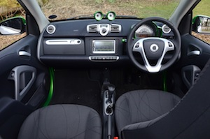 smart fortwo electric drive cabrio dashboard