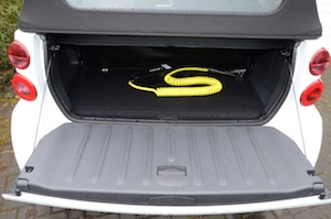 smart fortwo electric drive luggage space