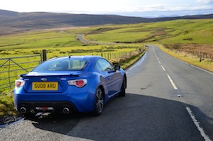 subaru BRZ driven between Milton Keynes and York
