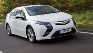 The electric Vauxhall Ampera Earth car