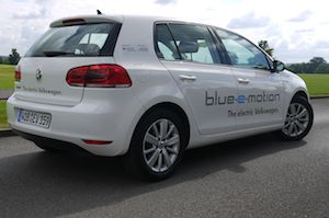 Volkswagen Golf Blue-e-Motion electric car